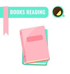 Books reading i love books concept vector