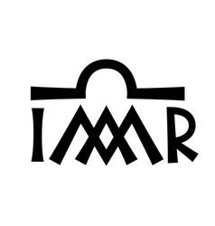Christian monogram of the virgin mary madonna vector
