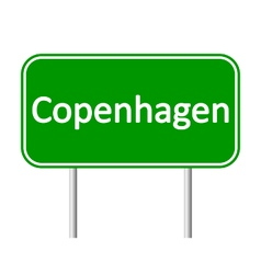 Copenhagen road sign vector