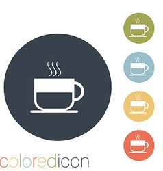 Cup of hot drink vector image
