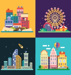 Different urban landscapes vector image vector image