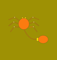 Flat icon on background kids toy spider vector