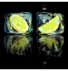 Frozen lemon slice vector