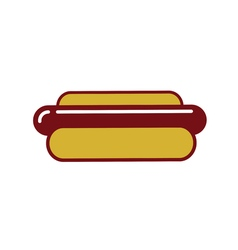 Hot dog outline icon vector