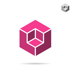 Isometric cubic shape vector