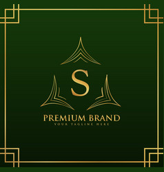 letter s monogram logo concept in elegant style vector image vector image