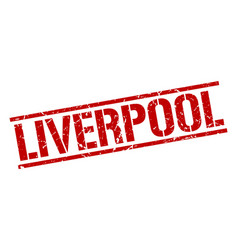 Liverpool red square stamp vector