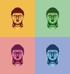 Low poly buddha face vector