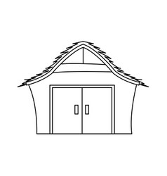 Manger house wooden nativity design outline vector