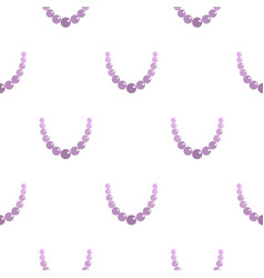 pearl necklace pattern seamless vector image