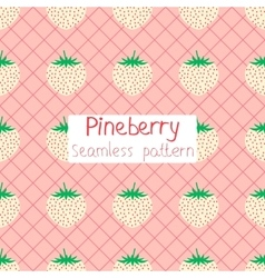 Pineberry seamless pattern vector image vector image