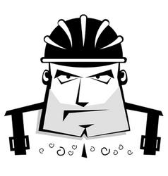 protective helmet vector image vector image