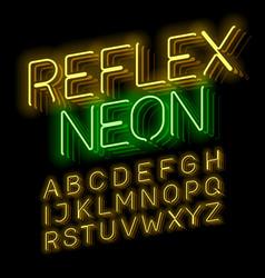 reflex neon font vector image vector image