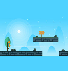 Scenery style for game background collection vector