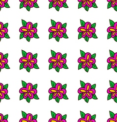 Seamless pattern with bee - 6 vector