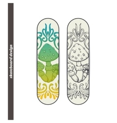 Skateboard Design Abstract Mushroom One vector image