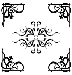 Tribal tattoo pattern vector image vector image