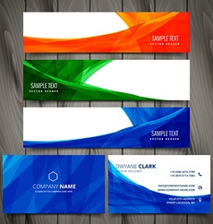 Set of colorful business stationery design vector