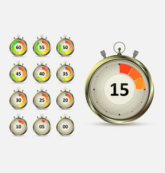 Timers countdown vector