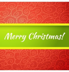 Excellent bright merry christmas greeting card vector