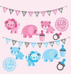 Baby shower kit vector