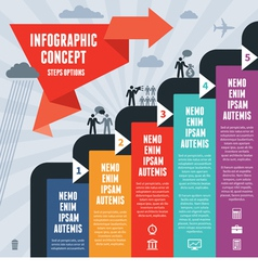 Infographic business concept steps options vector