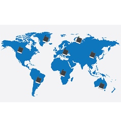 World map with pictures vector image