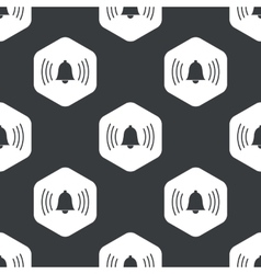 Black hexagon ringing bell pattern vector