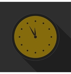 Dark gray and yellow icon - clock vector
