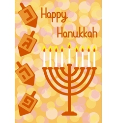 Hanukkah greeting card vector