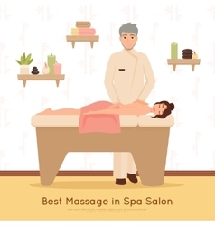 Beauty salon spa people vector
