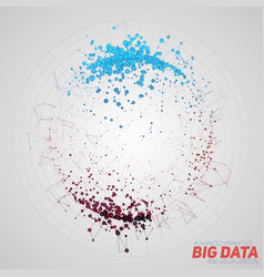 Abstract round big data visualization vector