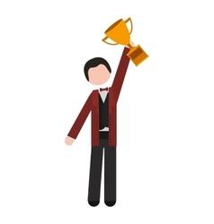 avatar businessman cartoon vector image