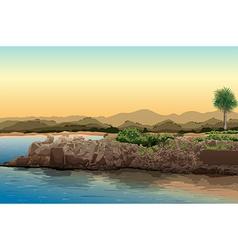 Beach view vector
