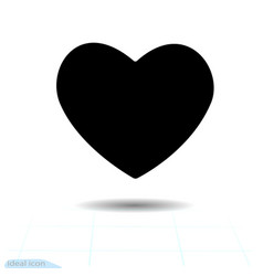 black heart icon holiday pattern abstraction vector image
