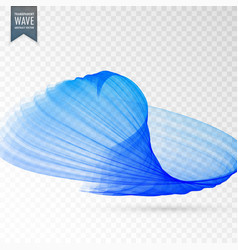 Blue abstract wave design background vector