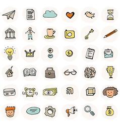 Business doodle element set vector
