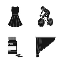 Design sport textiles and other web icon in vector