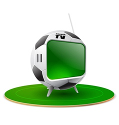 football tv vector image vector image
