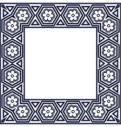 Frame with geometric motifs vector