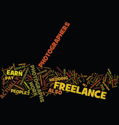 Freelance photography areas text background word vector