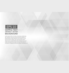 geometric gray abstract background vector image vector image