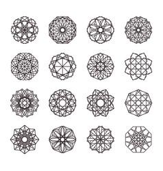 geometric mosaic ornaments set vector image