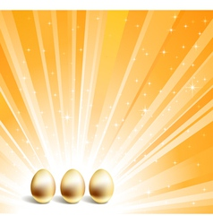 gold eggs vector image