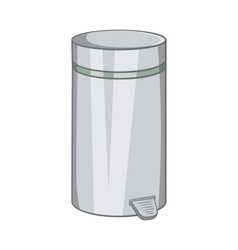 Home trash icon cartoon style vector