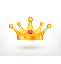 icon of golden crown vector image