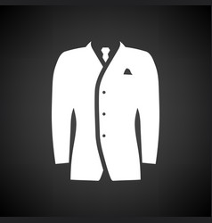 Mail suit icon vector