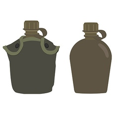 Military canteens vector