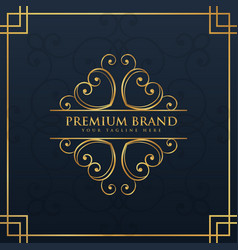 Monogram logo design for premium and luxury brand vector