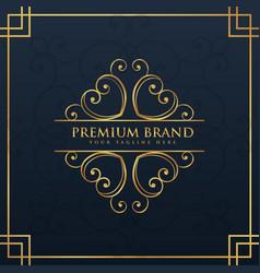 monogram logo design for premium and luxury brand vector image vector image